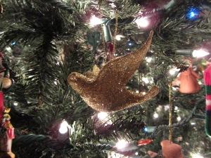 Glitter Gold Bird